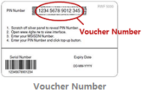 Voucher Number. 15 digits on back of your scratch card.